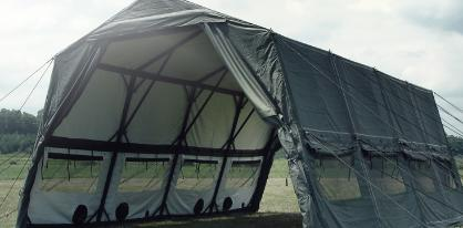 Temper Tent Window Center Section Temperate Desert Tan Vinyl Tarp NOS